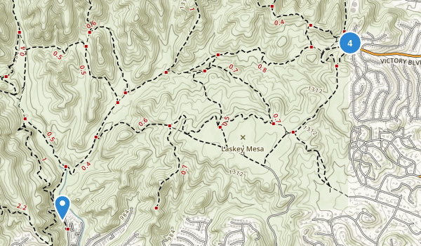 Upper Las Virgenes Canyon Open Space Preserve Map
