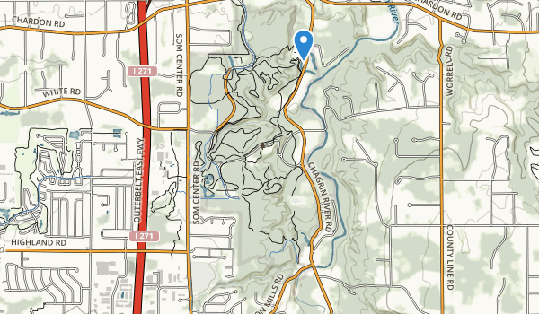 North Chagrin Metropolitan Park Map