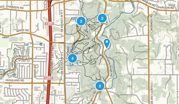 North Chagrin Metropolitan Park Map