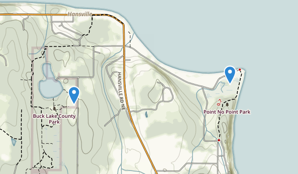 trail locations for Buck Lake County Park