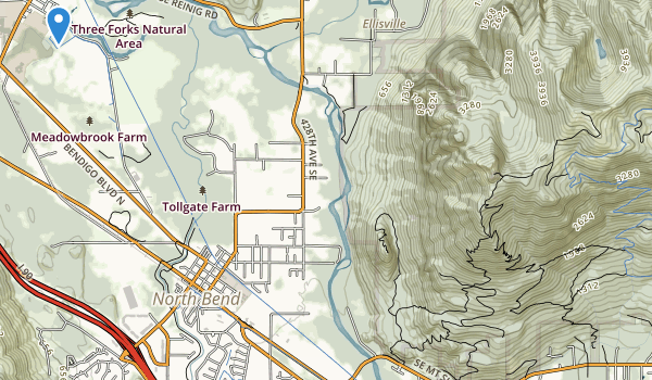trail locations for Three Forks Park
