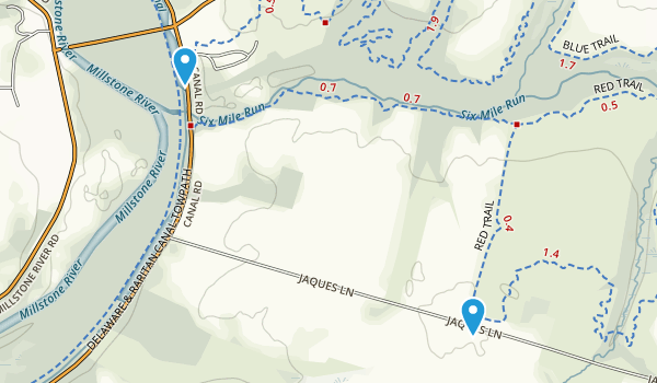 Six Mile Run State Park Map