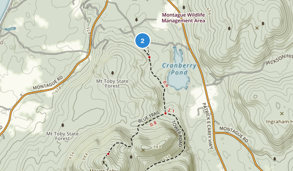 Mount Toby State Forest Map