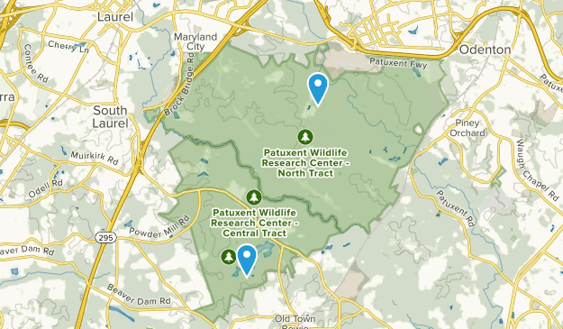 Patuxent Research Refuge Map