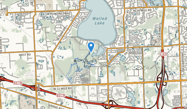 trail locations for Lakeshore Park
