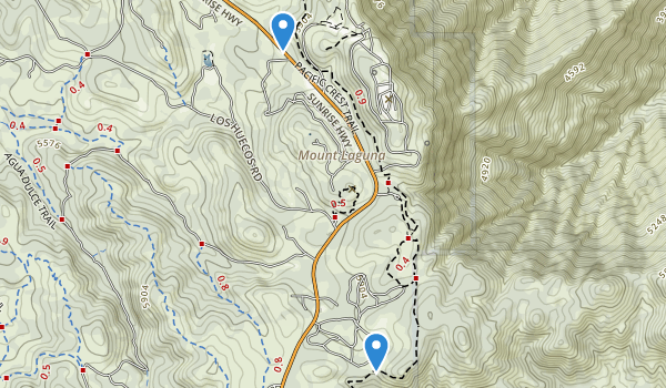 trail locations for Cuyapaipe Indian Reservation