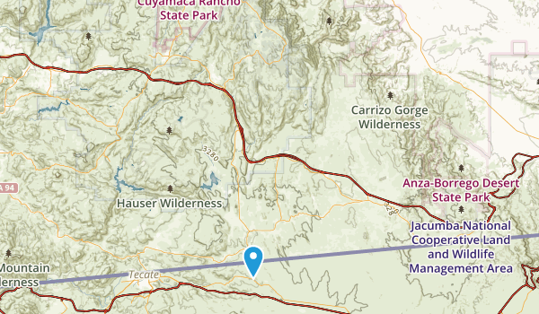Best Trails In Cuyapaipe Indian Reservation California - Us indian reservations map