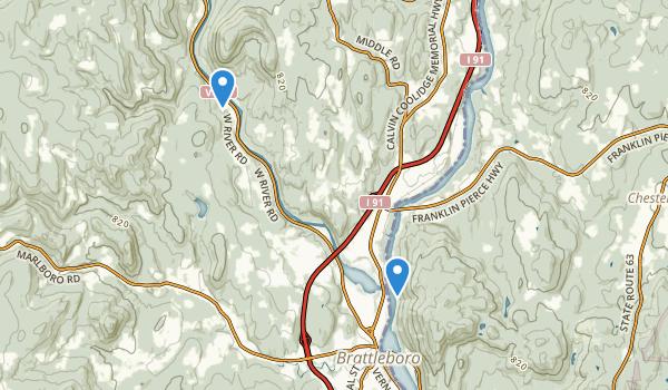 Wantastiquet Mountain Natural Area Map