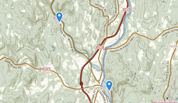 Wantastiquet Mountain Natural Area Map