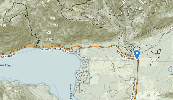 Camp Cushman And Recreatjon park Map