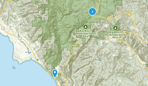 West Waddell Creek State Wilderness Map