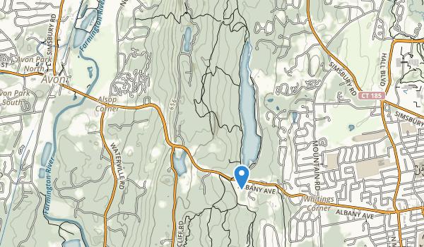 trail locations for Hazen Park