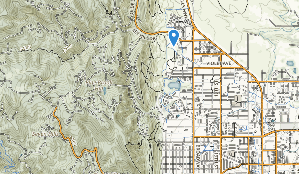trail locations for Foothills Community Park