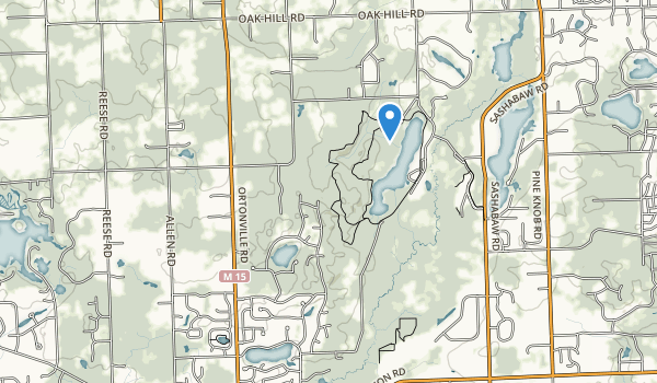 trail locations for Independence Oaks County Park