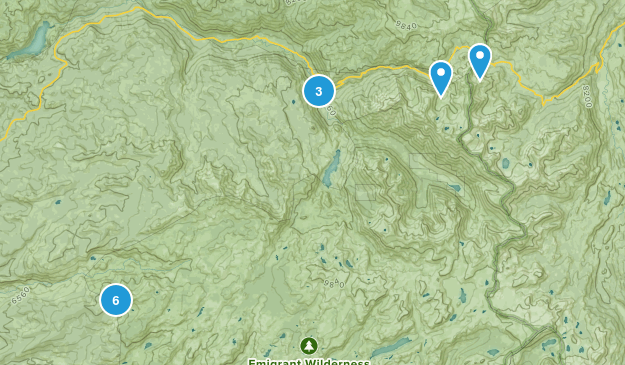 Emigrant Wilderness Map