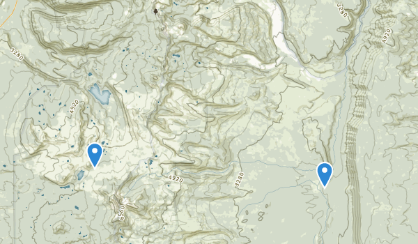 trail locations for Mount Jefferson Wilderness