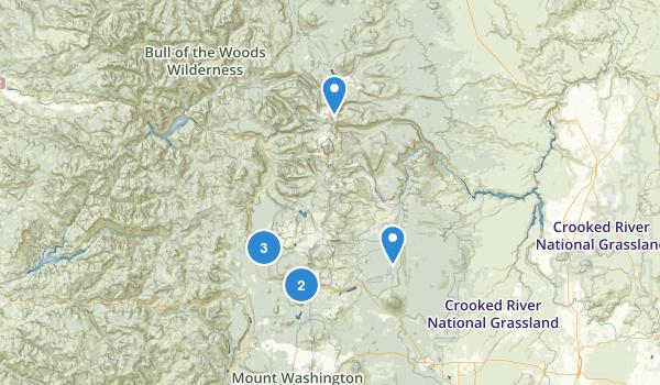Mount Jefferson Wilderness Map
