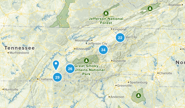 Cherokee National Forest Map