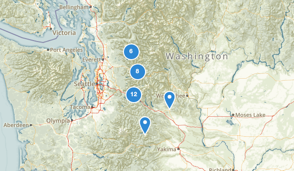 trail locations for Mount Baker Snoqualmie National Forest
