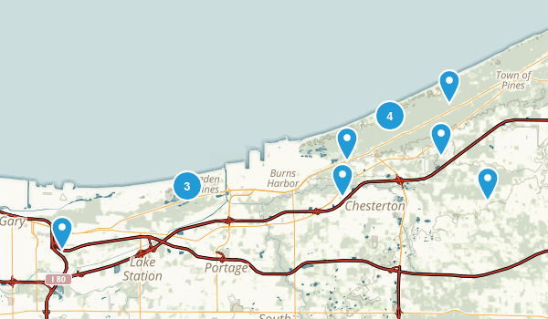Indiana Dunes National Lakeshore Map