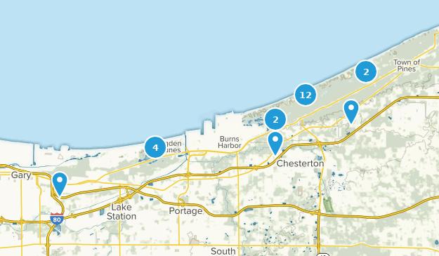 Indiana Dunes National Lakeshore Map