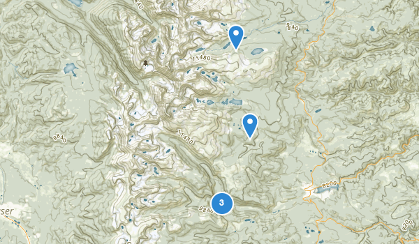 trail locations for Indian Peaks Wilderness