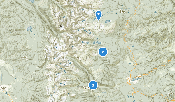 Indian Peaks Wilderness Map
