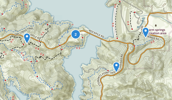 Lake Sonoma Recreation Area Map
