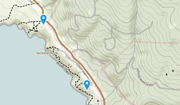 Kruse Rhododendron State Reserve Map