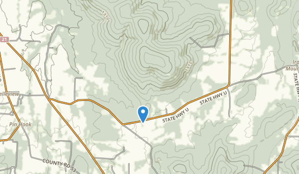 Buford Mountain Conservation Area Map