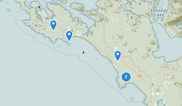 trail locations for Pacific Rim National Park Reserve Long Beach Unit