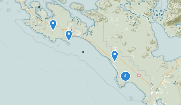 trail locations for Pacific Rim National Park Reserve Long Beach Unit