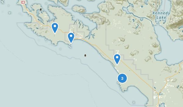 Pacific Rim National Park Reserve Long Beach Unit Map