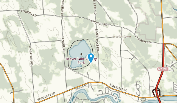 Beaver Lake County Park Map