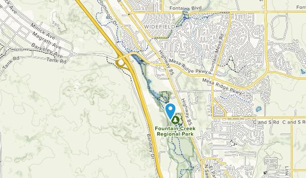 Fountain Creek Regional Park Map