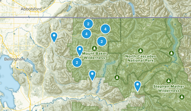 Mount Baker Wilderness Map