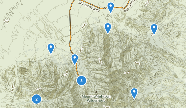 Mount Wrightson Wilderness Map