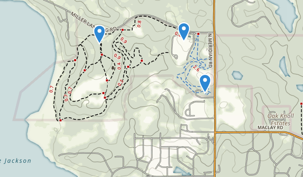 trail locations for Phipps Park
