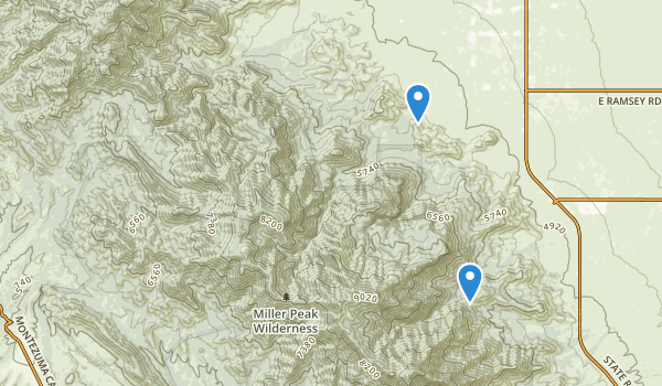Miller Wilderness Map