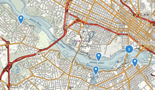James River Park Map