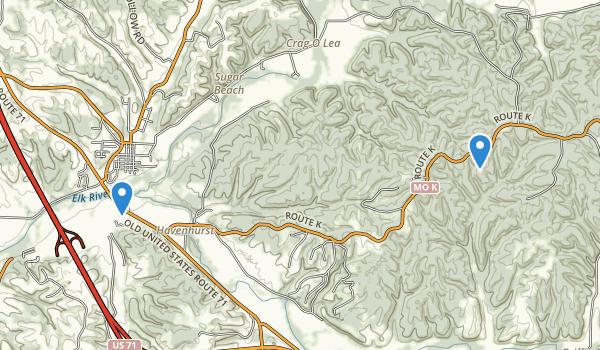 Huckleberry Ridge Conservation Area Map