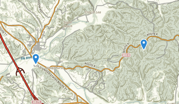 Huckleberry Ridge Conservation Area Map