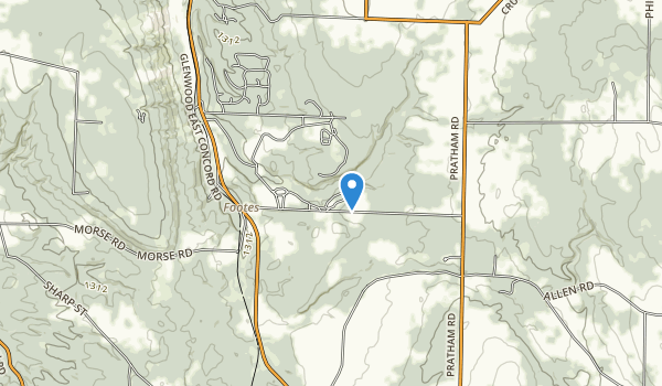 trail locations for Spraque Brook County Park