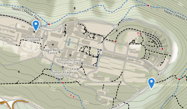 trail locations for Naheeno Park