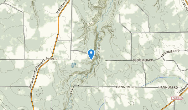 Chautauqua Gorge State Forest Map