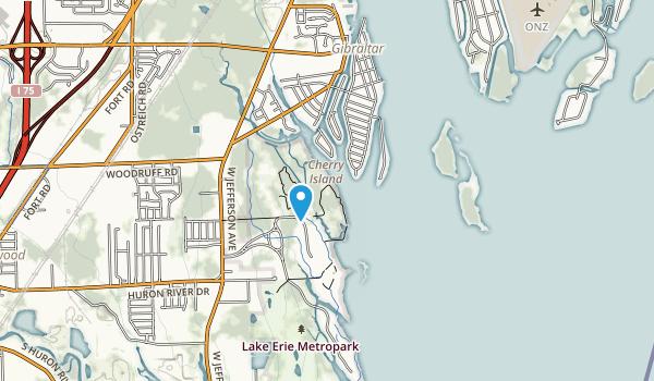 Lake Erie Metropark Map