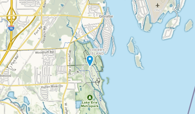 Lake Erie Metropark Map