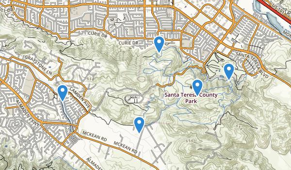 trail locations for Santa Teresa County Park