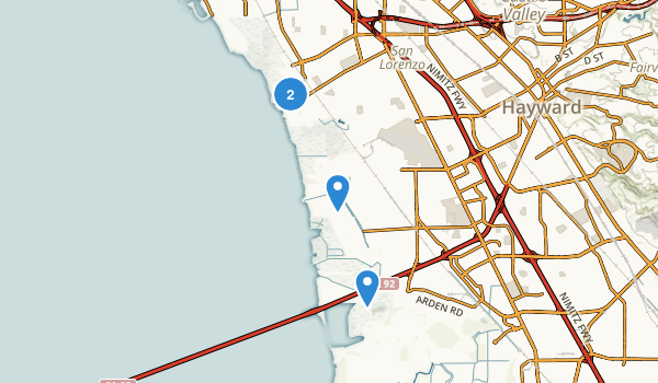 Hayward Regional Shoreline Map