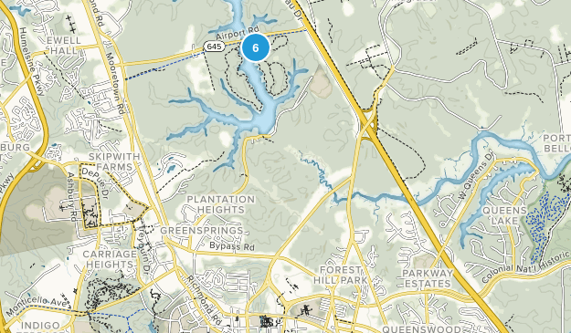 Waller Mill Park Map